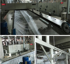 Hot Air Textile Finishing Stenter Humanism Design Heat Preservation 3600mm Working Width